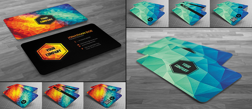 15 creative business card templateswith unique designs creative modern polygon business card flashek Images