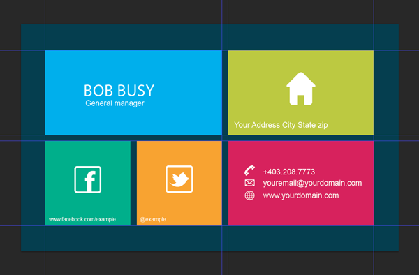 15 creative business card templateswith unique designs grid based business card template wajeb Image collections