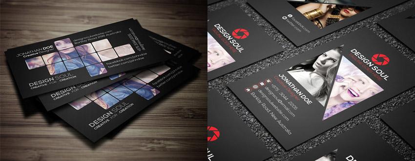 15 creative business card templateswith unique designs unique photography business card bundle psd reheart Images