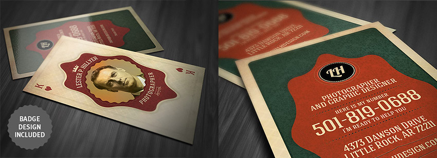 Vintage Photoshop Playing Card - Business Card