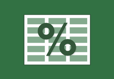 Calculate excel percentages