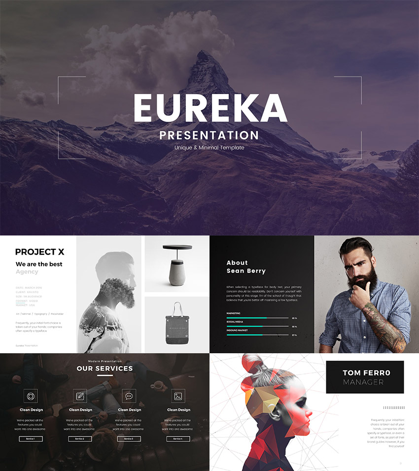 15 creative powerpoint templates for presenting your innovative ideas eureka minimal powerpoint template design toneelgroepblik Choice Image
