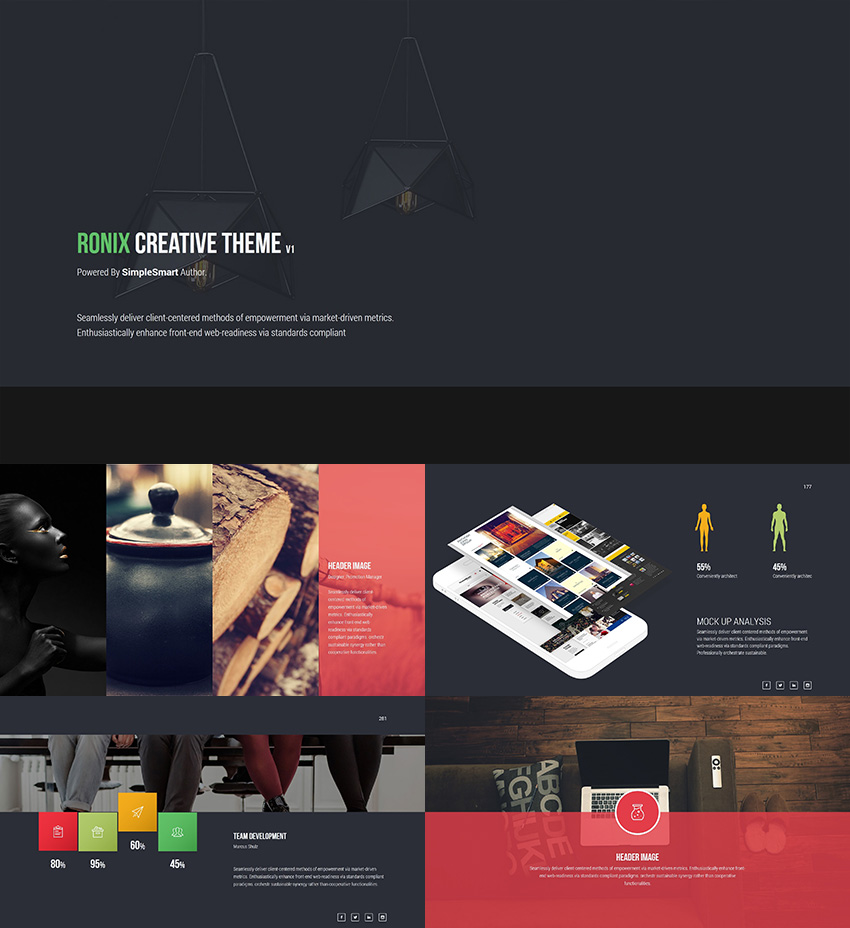 ronix creative powerpoint theme design - Powerpoint Design Ideas
