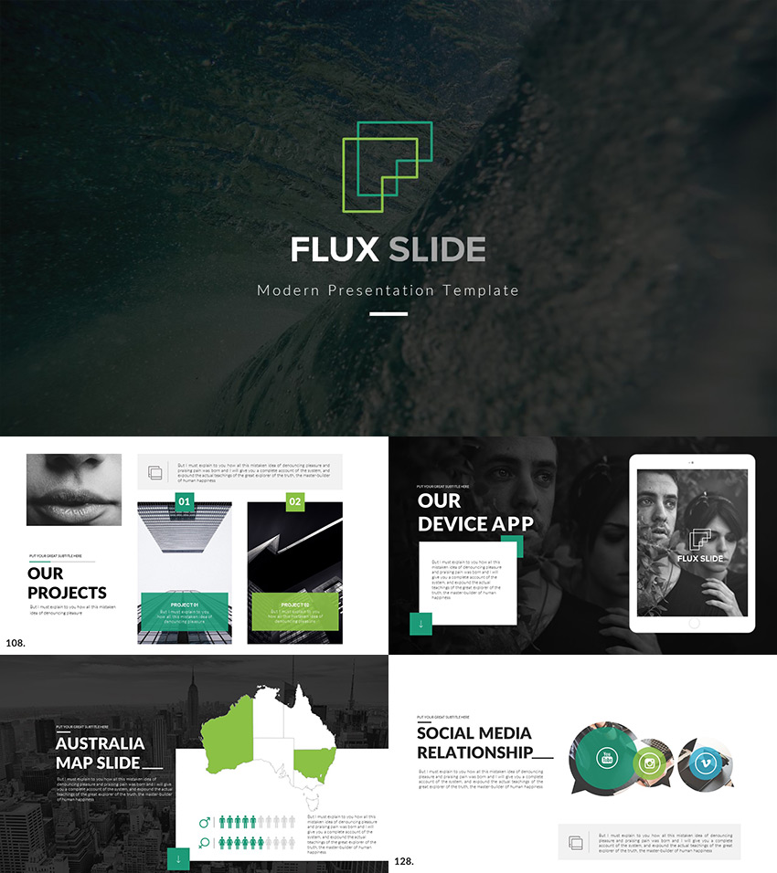 flux slides creative ppt presentation template