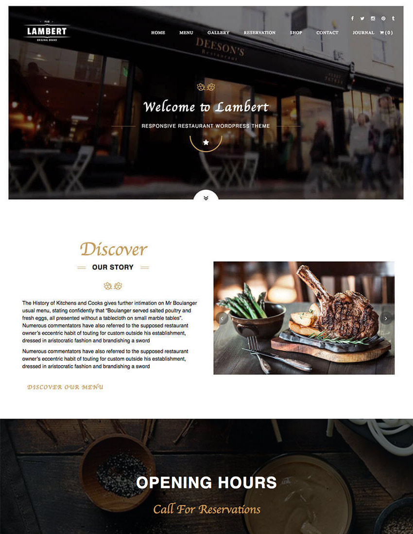 Lambert Cafe WordPress Theme