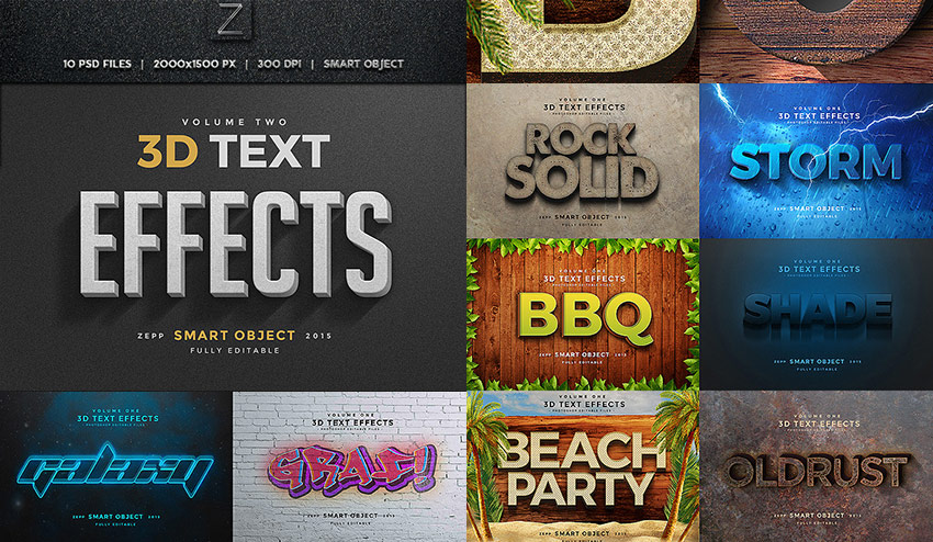 3D Photoshop Text Effects Vol2