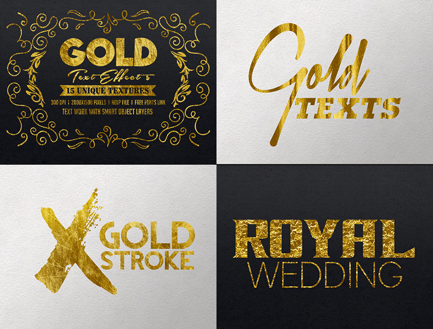 Gold Photoshop Text Effects