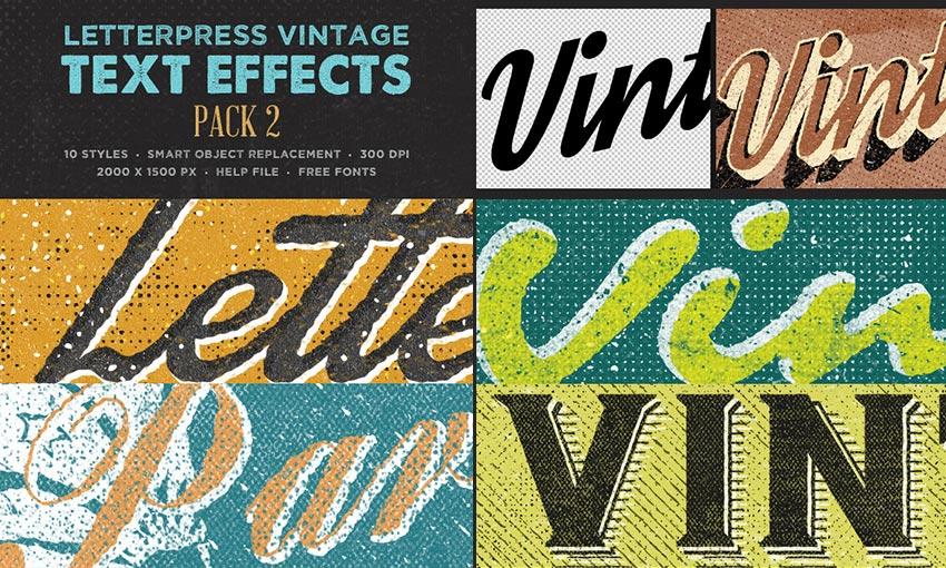 25 Creativos efectos de texto en Photoshop - con estilos vibrantes