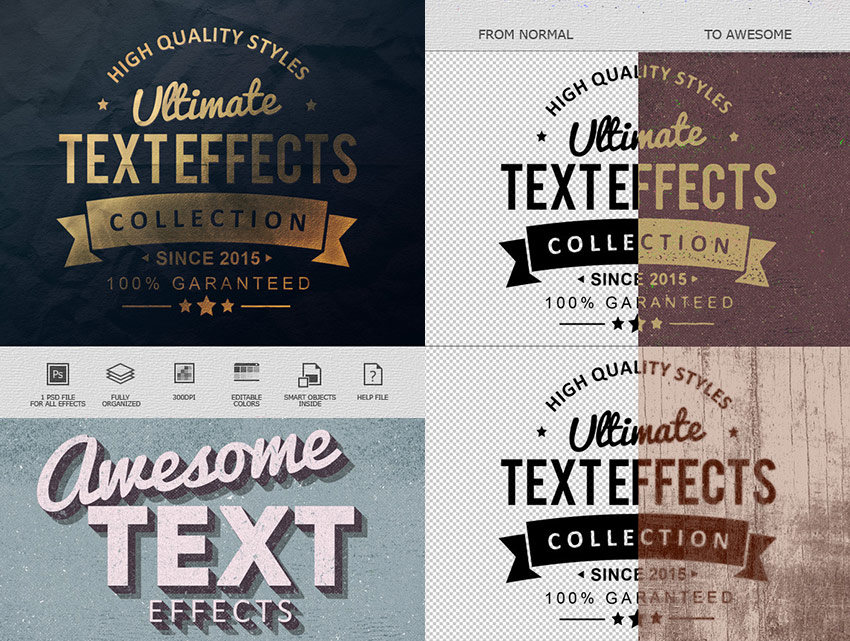 Ultimate Photoshop Text Effect Collection