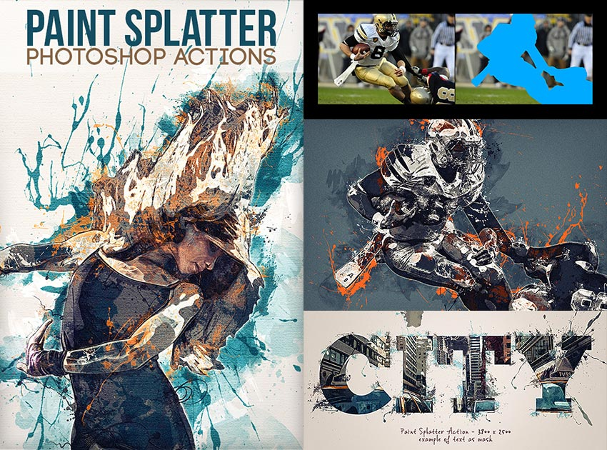 Paint Splatter Photoshop Photo Effect Actions