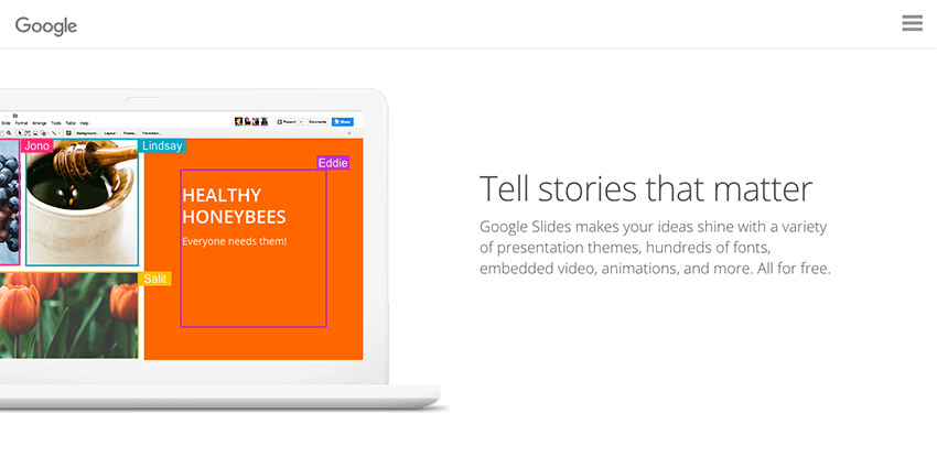 Google Slides Presentation Software