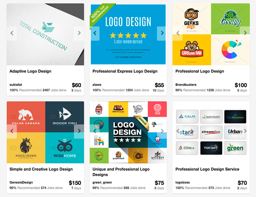 Logo Design Packages on Envato Studio