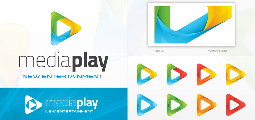 Media Play Video Logo Template Design