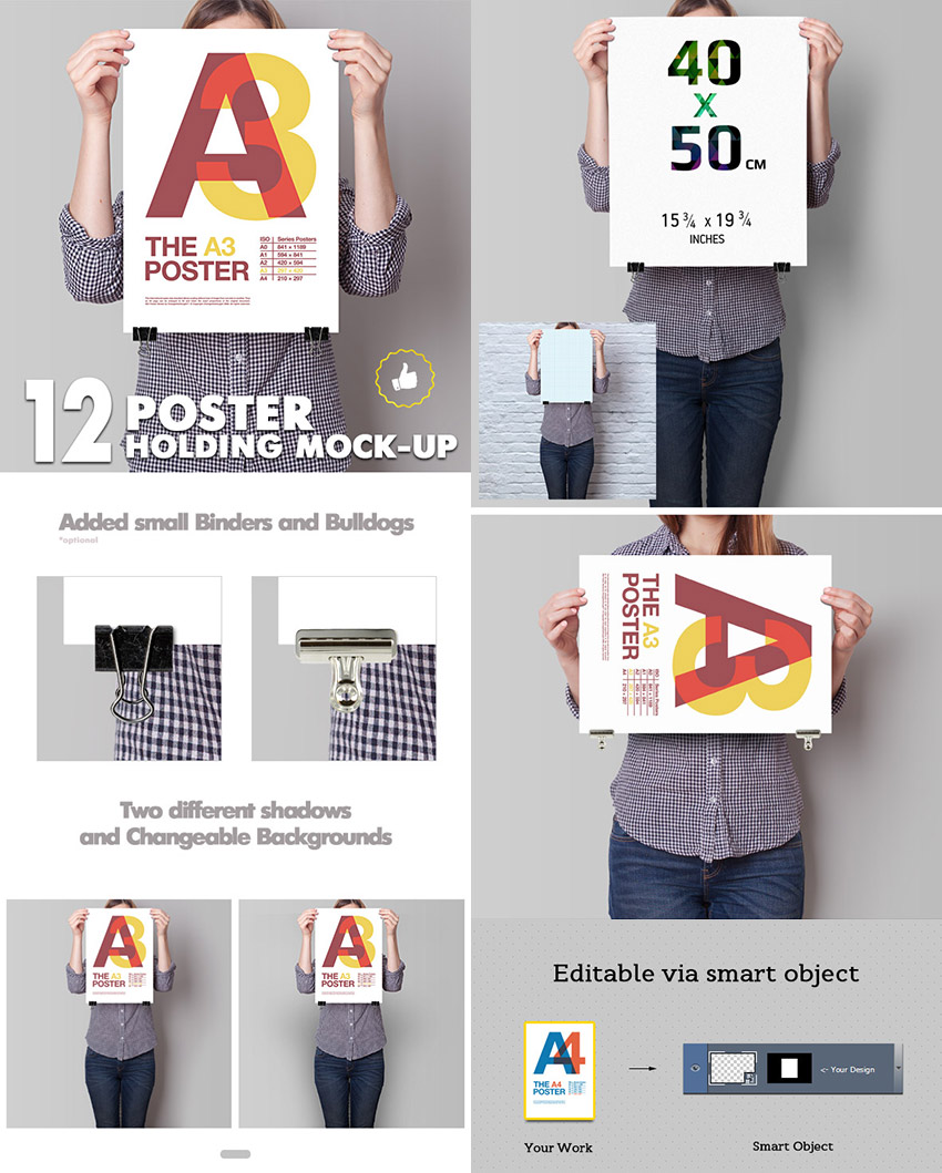 15 Photoshop Poster Mockup Templates For Your Creative