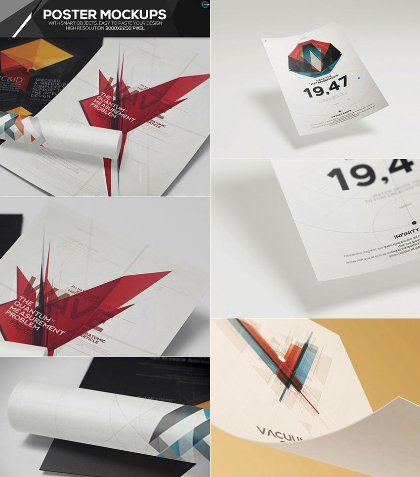 Minimal PSD Poster Mockup Designs