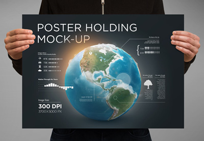 Photoshop poster mockups templates