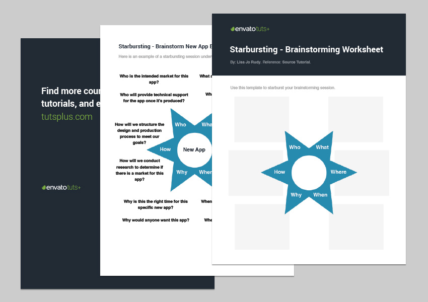 Starbursting Worksheet