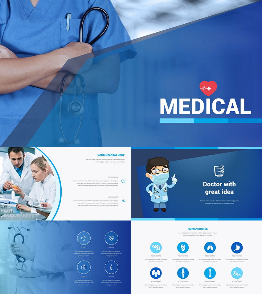 Interesting Medical PPT Presentation Slide Template