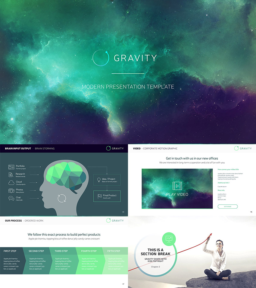 Gravity PPT Professional Modern Presentation