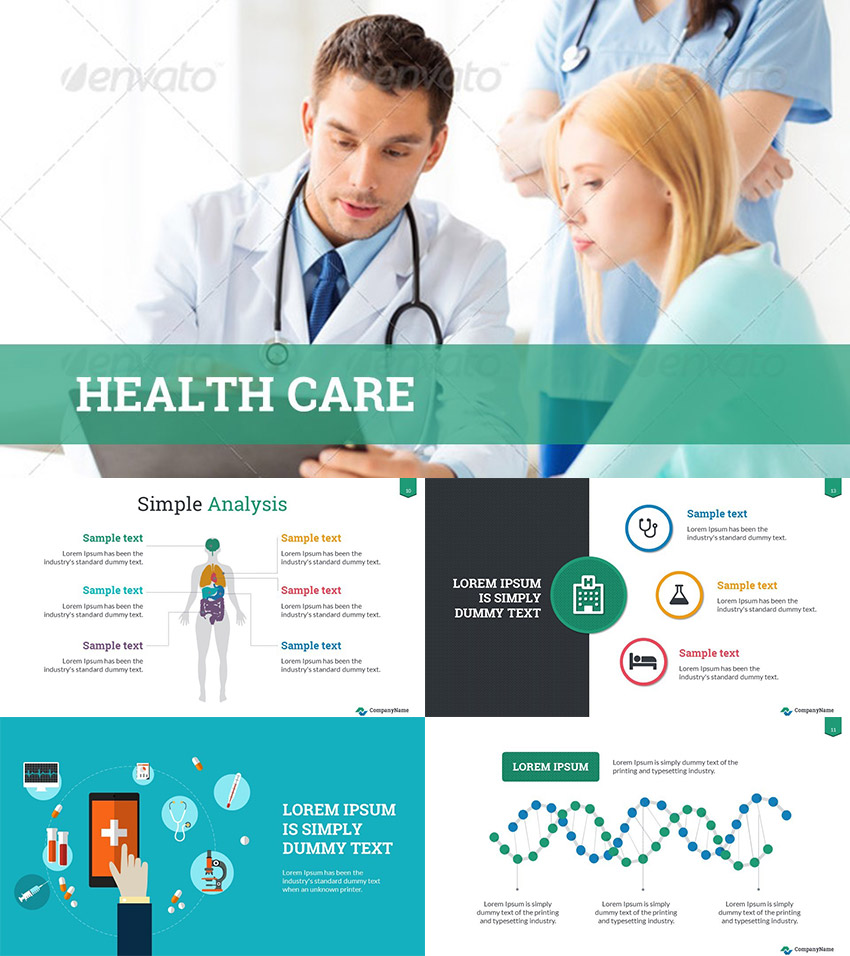Healthcare Success PowerPoint Template Design