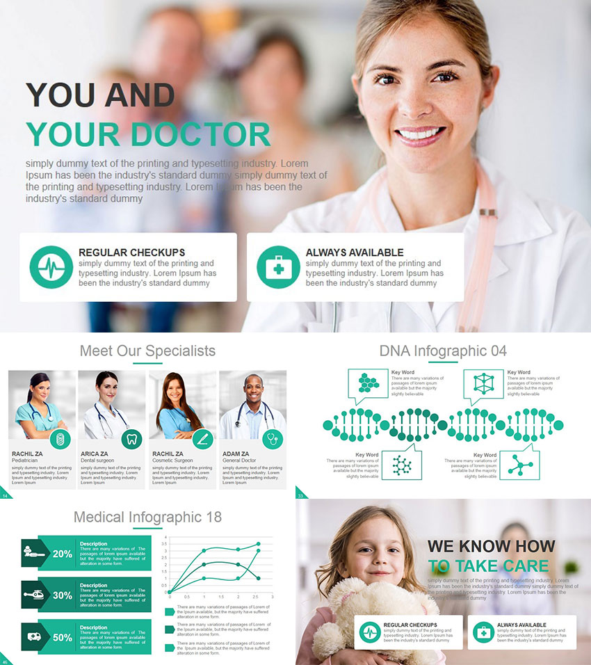 21 medical powerpoint templates for amazing health presentations healthcare medical ppt template toneelgroepblik Choice Image