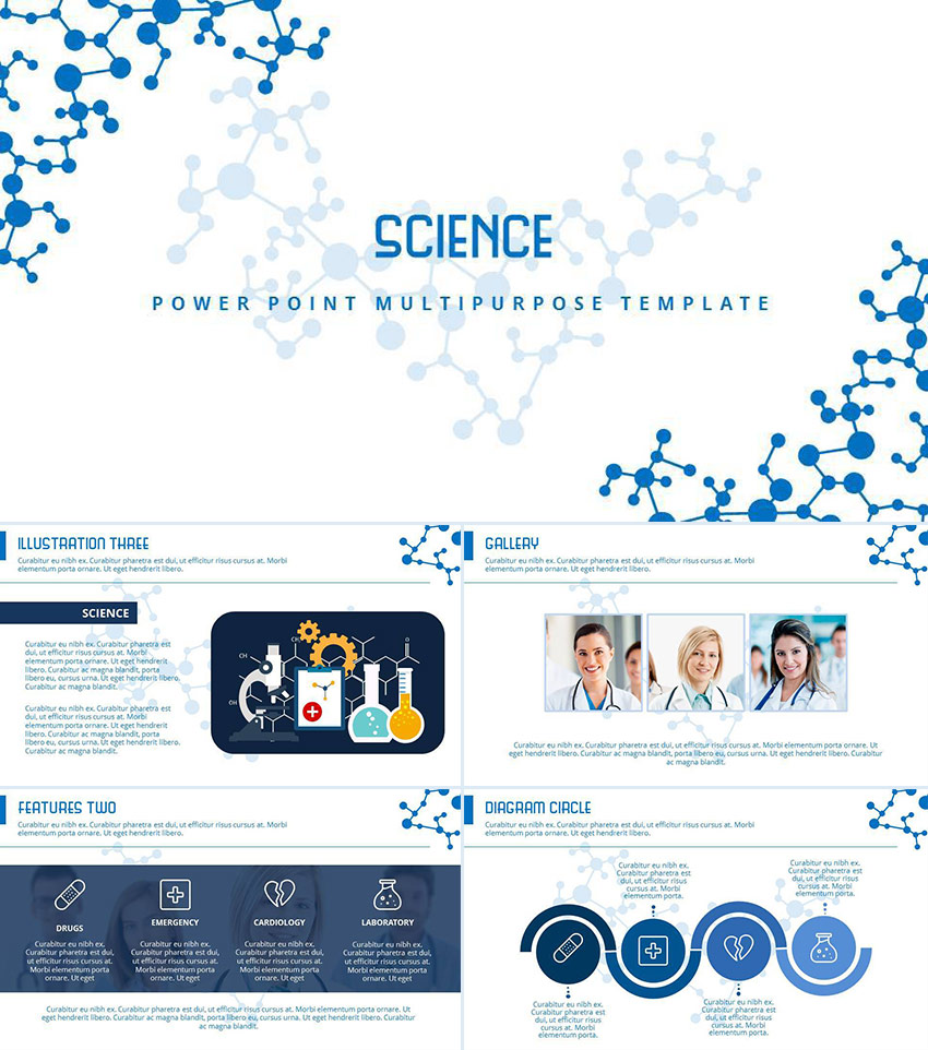 Medical PowerPoint Templates For Amazing Health Presentations - Awesome biology ppt template ideas