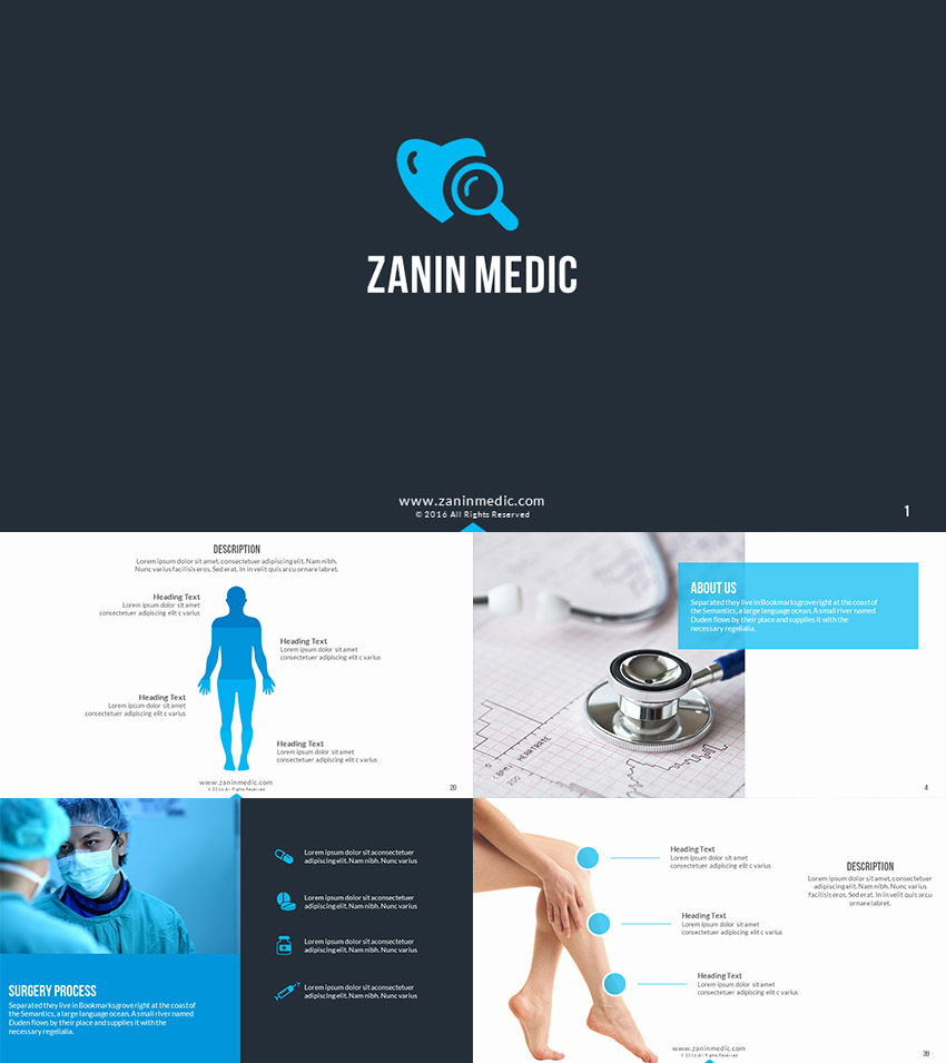 Zanin Medical Healthcare PPT Presentation Template