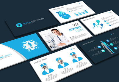 Medical health powerpoint templates