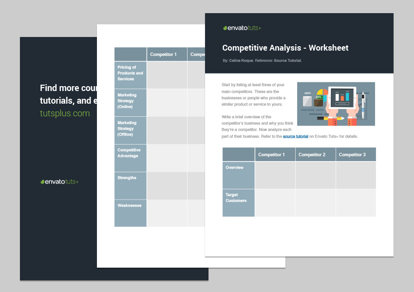 Competitive Analysis Worksheet Template Download  Competitors Analysis Template