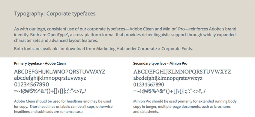 Adobe font used in their brand identity  How to Design a New Brand Identity for Your Business adobe fonts