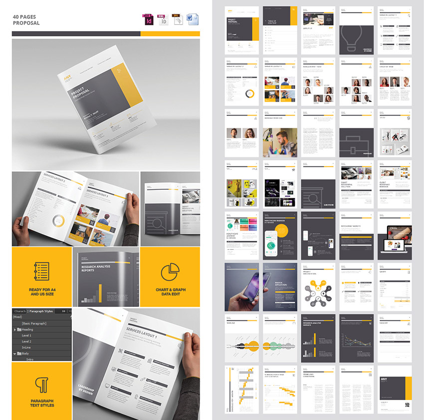 40 Pages Business Project Proposal Template Regarding Proposal Layouts