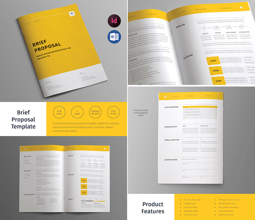 Awesome Business Brief Proposal Template Design Intended For Proposal Layouts