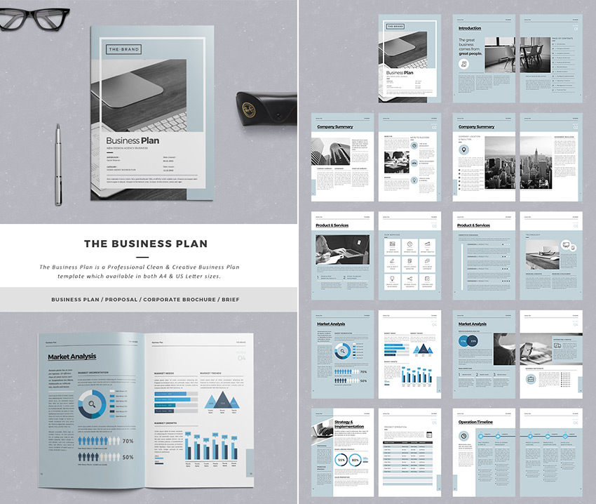 Business Proposal Design Insssrenterprisesco - Pages business plan template