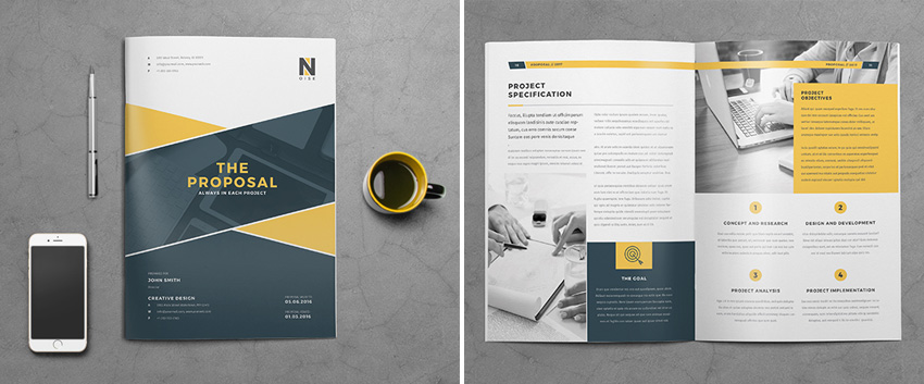Business Proposal Template Example  Commercial Proposal Template