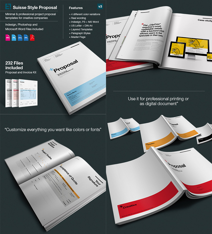 15 best business proposal templates for new client projects simple business proposal design wajeb Images