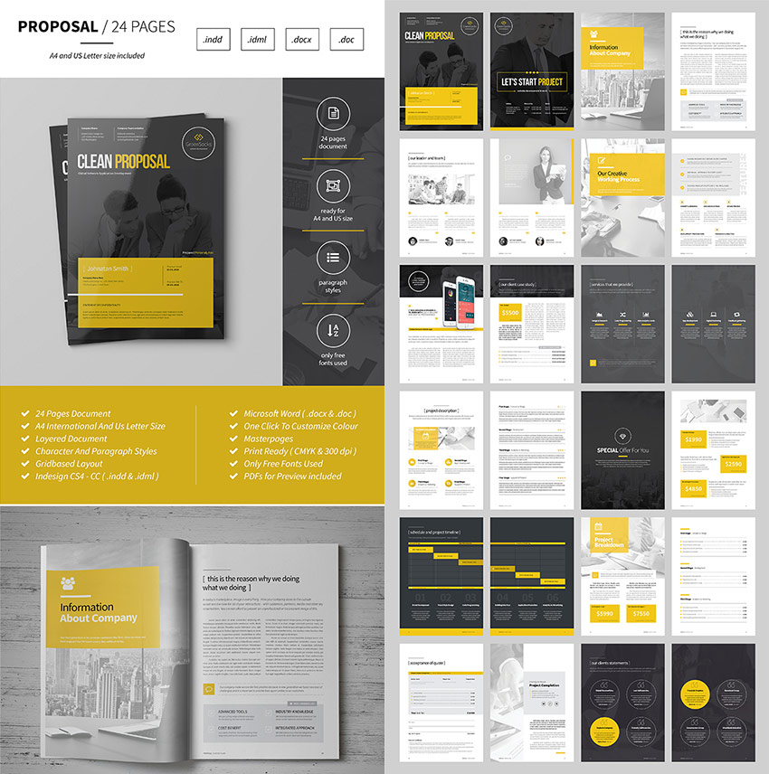 Multipurpose Business Proposal Template  Graphic Design Proposal Example