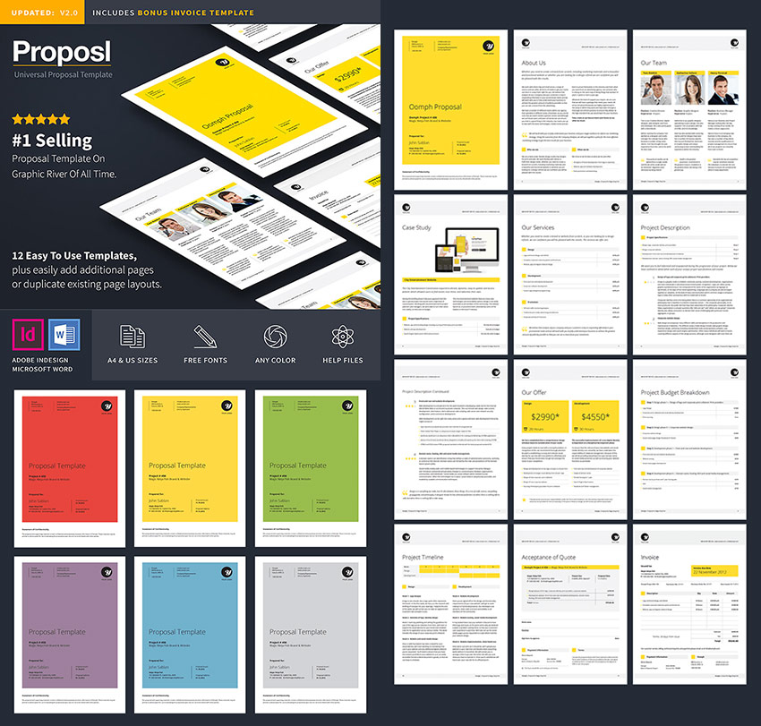 Professional Business Proposal Template Design  Professional Proposal Templates