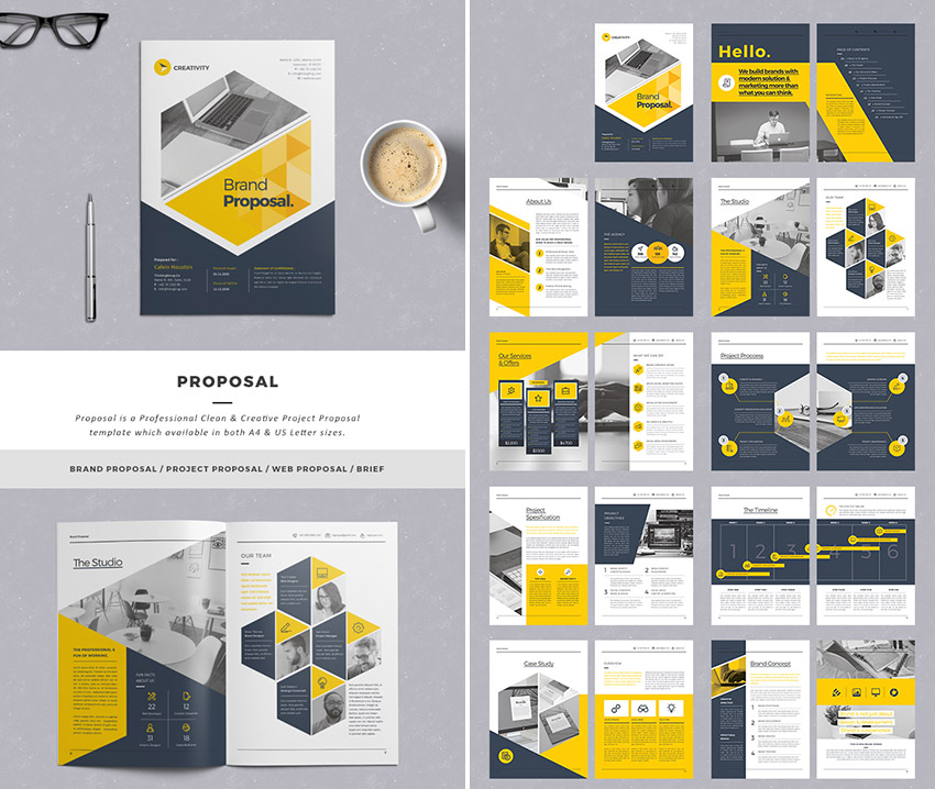 Stylish Business Project Proposal Templates  Professional Project Proposal