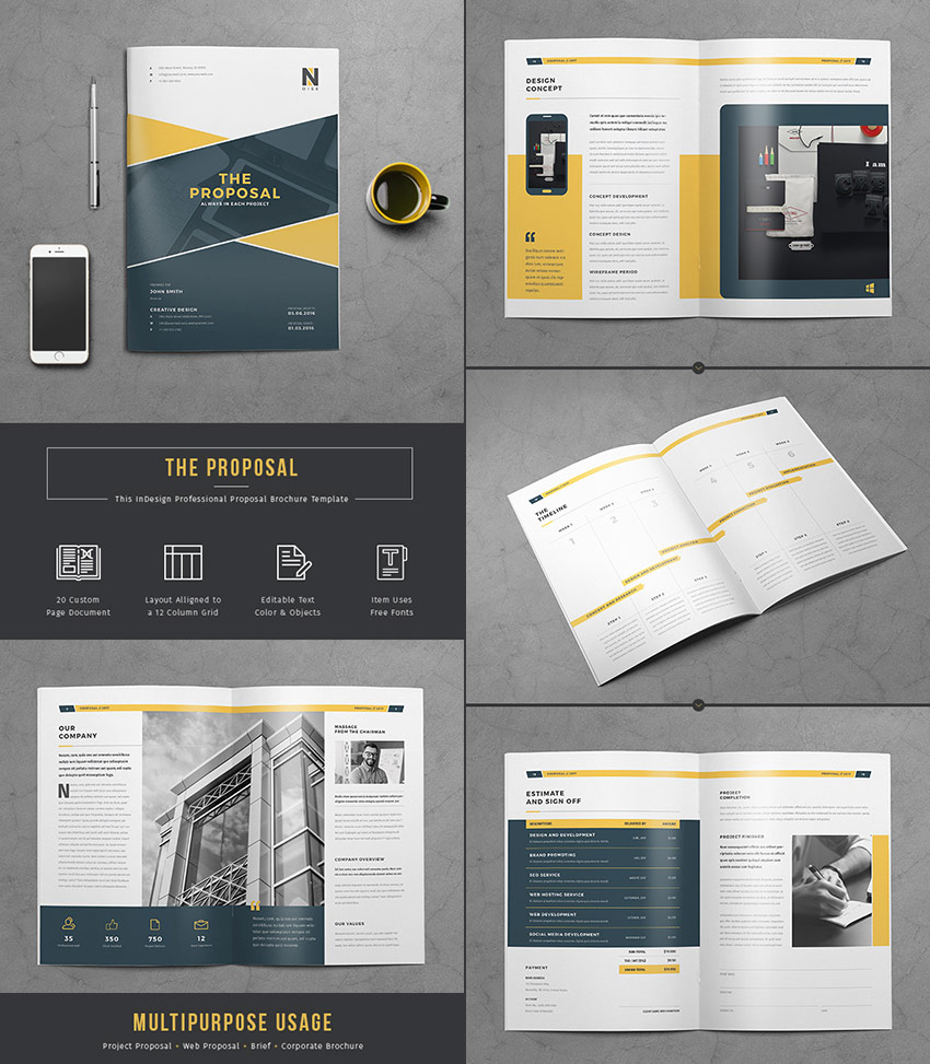 the proposal flexible business template design - Free Proposal Template