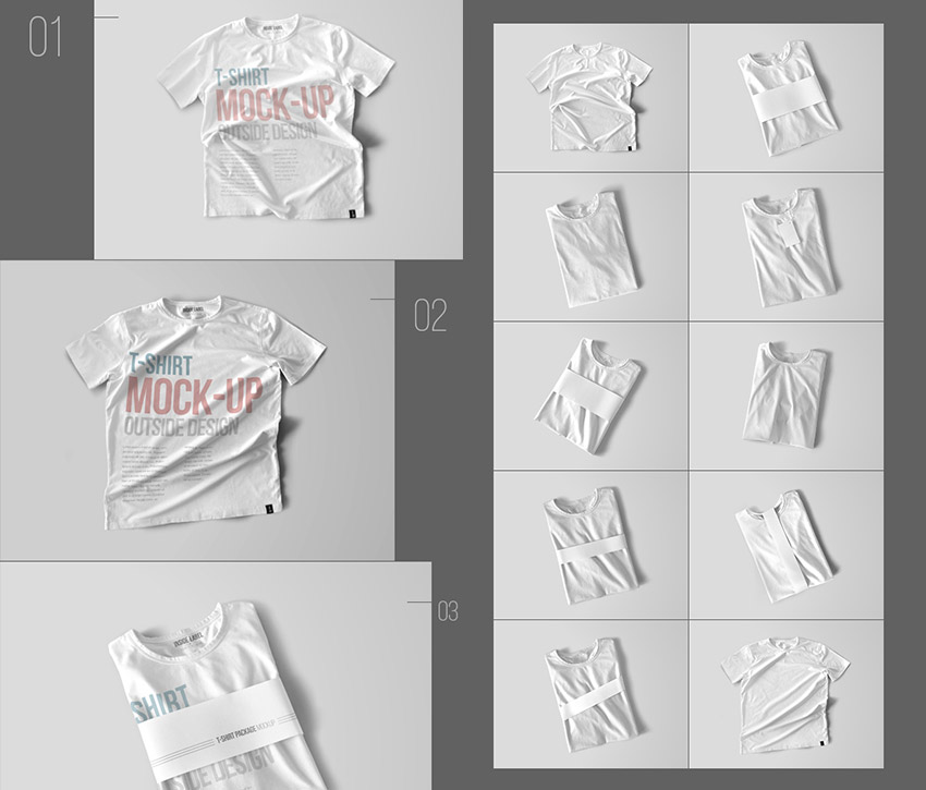 Simple T-Shirt PSD Mockup Templates