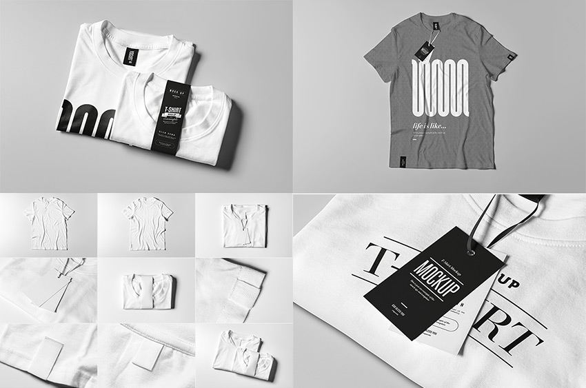 T-Shirt Mock-up 2 PSD Template Set