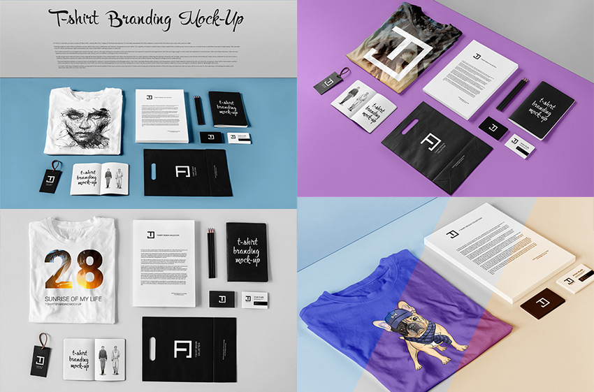 T-Shirt PSD Mock-Up Reatlistic Branding Design Bundle
