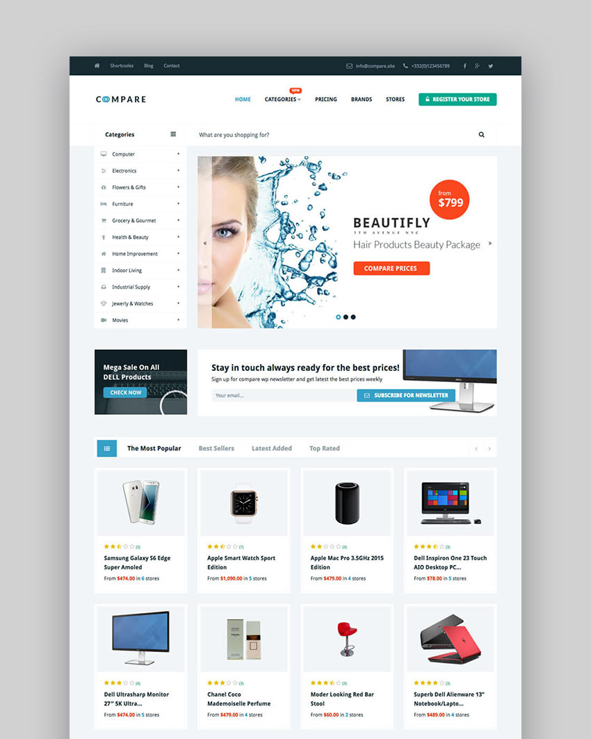 Best WordPress Directory Themes To Make Business Websites - Free invoice template with logo chanel online store