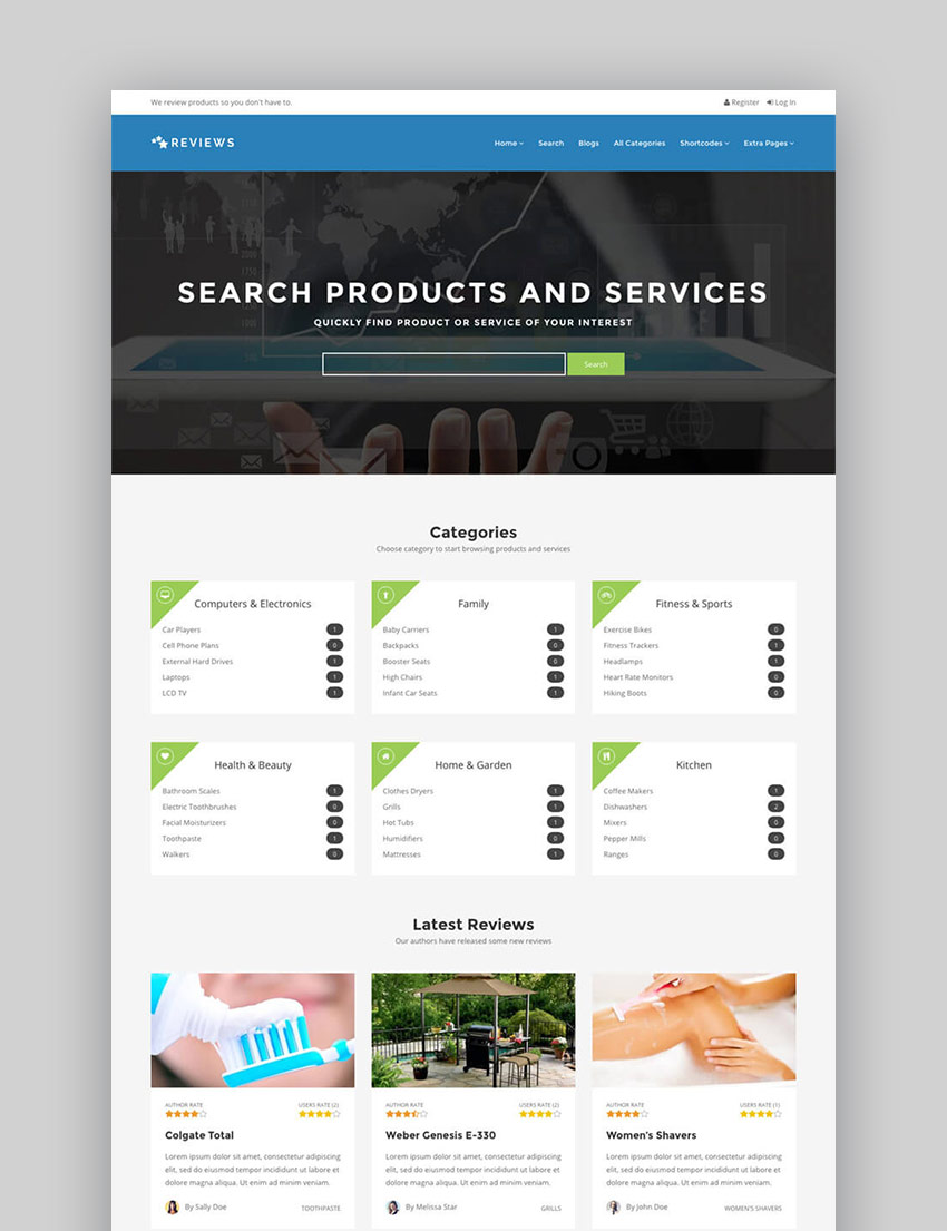 20 best wordpress directory themes to make business for Product review template wordpress