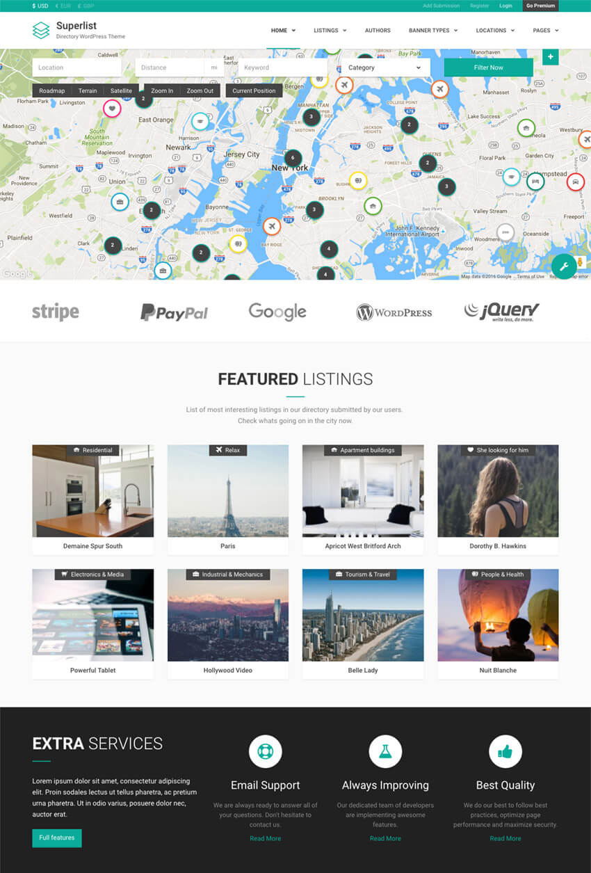 20 best wordpress directory themes  for business listing