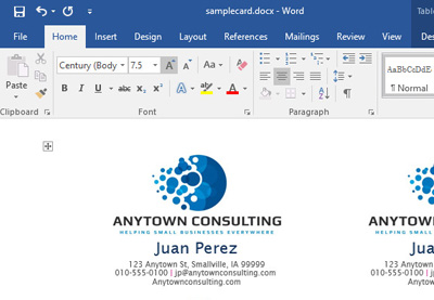 Business Cards  How To Create A Invoice In Word