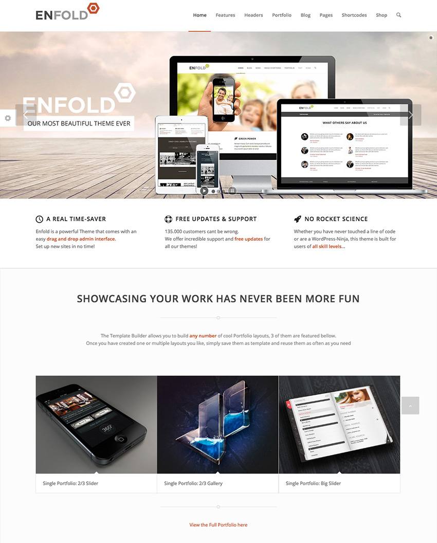 Enfold Minimal WordPress Theme Design