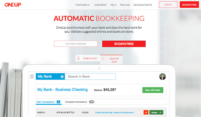 OneUp Online Accounting Software for Better Bookkeeping