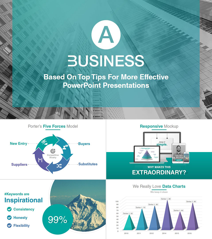 18 professional powerpoint templates for better business presentations a business professional ppt presentation template cheaphphosting Images