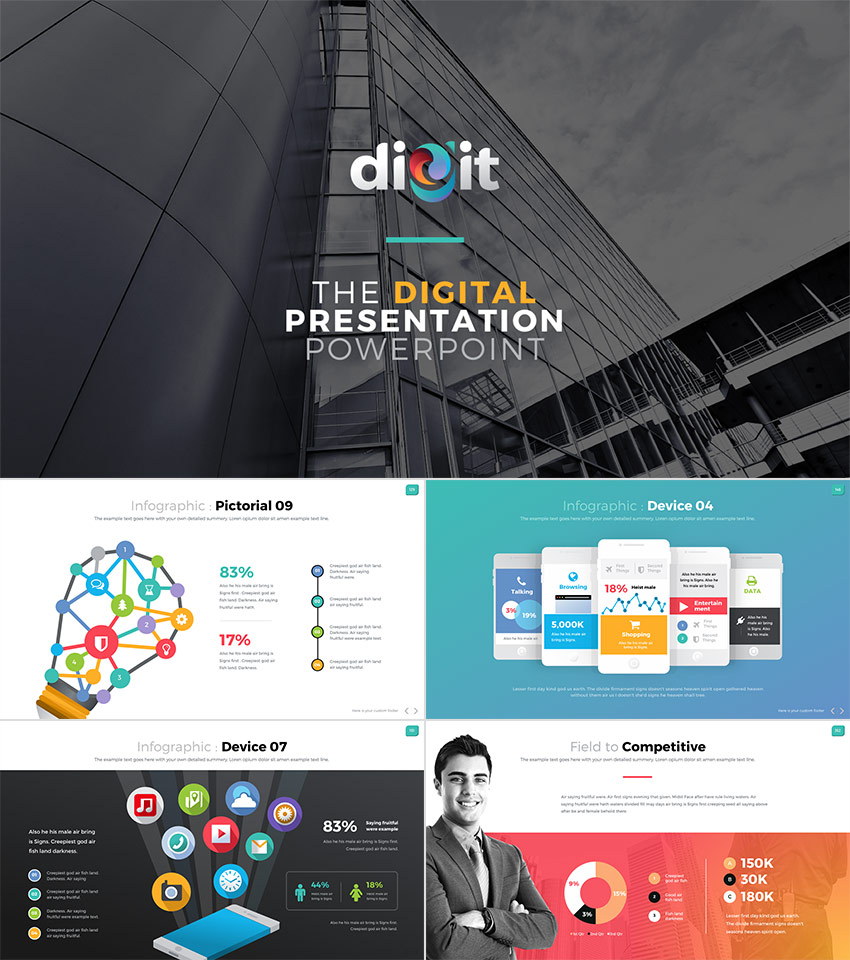 Corporate Powerpoint Template Design: 15 Professional PowerPoint Templates: For Better Business